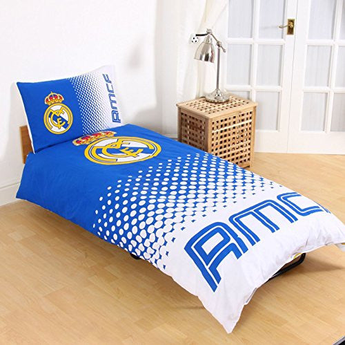 Real Madrid CF Twin Duvet Cover and Pillowcase Set