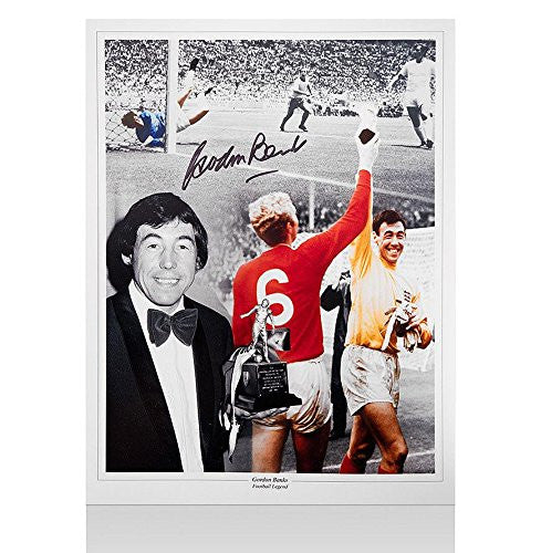 Gordon Banks Signed Photo - England 1966 Legend Autograph