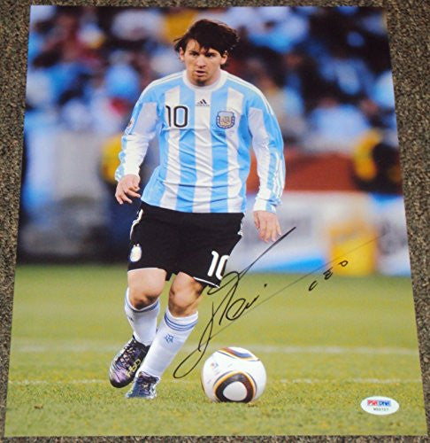 Lionel Messi Signed Photo - Barcelona New 11x14 - Autographed Photos