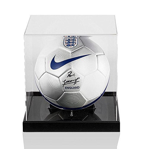 Paul Gascoigne Signed England Football - Acrylic Display Case Autographed