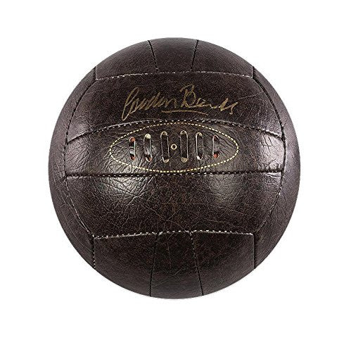 Gordon Banks Signed Football - Retro Leather Autograph