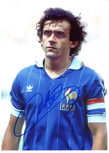 Michel Platini SOCCER autograph, signed photo