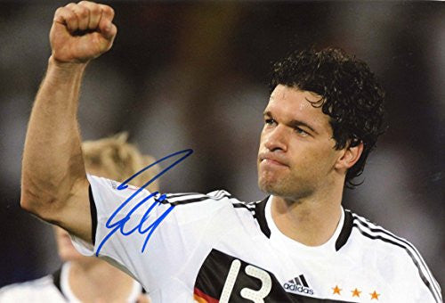 Michael Ballack autographed, In-Person signed photo