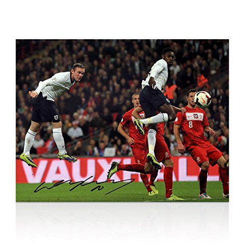 Wayne Rooney Signed England Picture