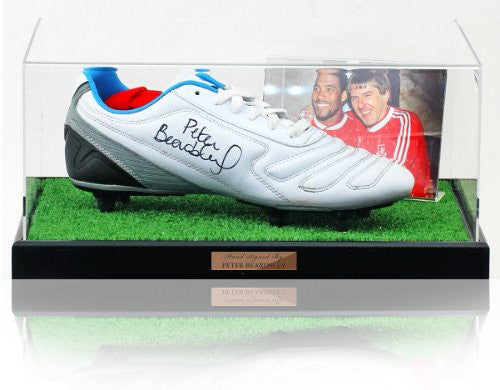 Peter Beardsley hand signed Liverpool F.C. Football Boot Presentation