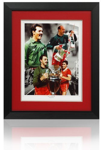 "Bruce Grobbelaar 16x12"" hand signed Liverpool Montage"