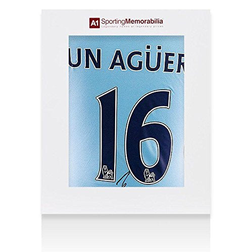 Sergio Aguero Signed Manchester City Shirt 2011/2012