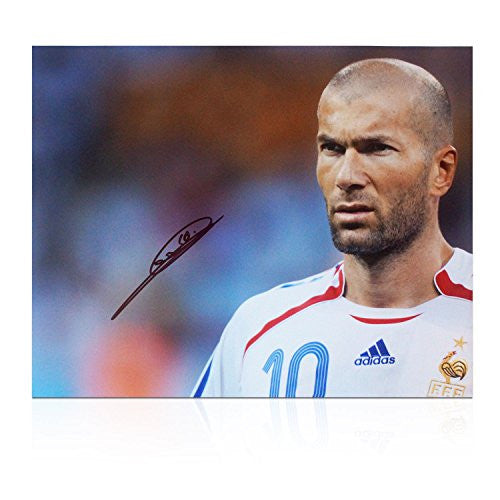 Zinedine Zidane Signed France Photo: Portrait Of A Genius