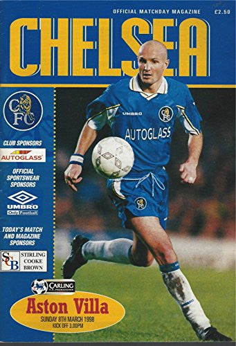 Chelsea, 8th March 1998, official matchday magazine: Gianluca Vialli and various