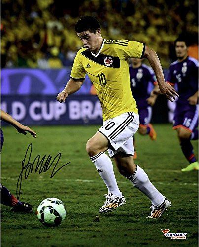 "James Rodriguez Colombia Autographed 16"" x 20"" Yellow Jersey Photograph - Fanatics Authentic Certified"