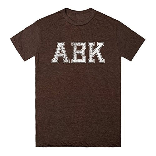 AEK, Vintage Heathered Brown T-Shirt