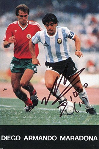 Diego Maradona autographed, signed photo