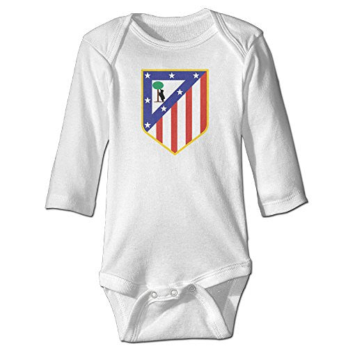 Club Atletico De Madrid Long Sleeve Baby Onesie