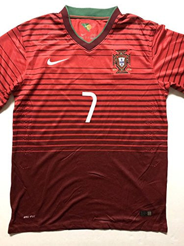 Autographed/Signed Cristiano Ronaldo Portugal Red World Cup Soccer Futbol Jersey PSA/DNA COA