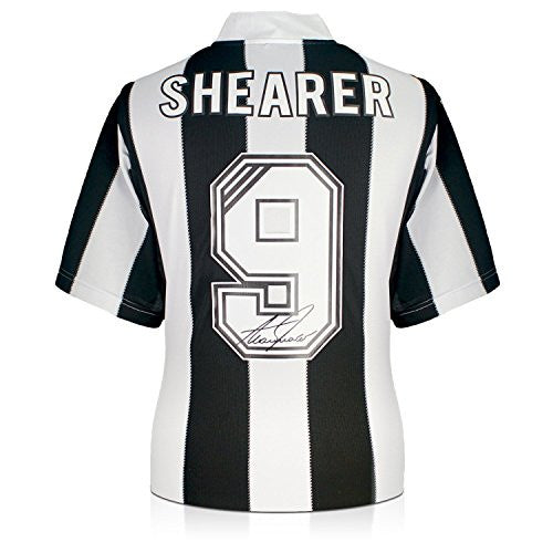 Alan Shearer Back Signed Newcastle 1996 Shirt In Gift Box