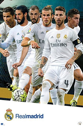 Real Madrid C.F. Assorted Players Wall Poster