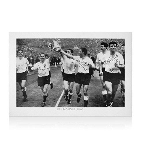 Cliff Jones, Bobby Smith & Jimmy Greaves signed Spurs photo - 1962 FA Cup - Autographed NFL Photos