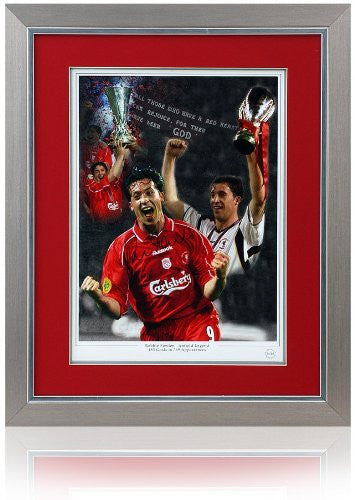 "Robbie Fowler Hand Signed framed 16x12"" LIVERPOOL Montage"
