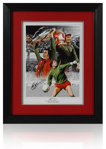 "Ray Clemence European Cup hand signed 16 x 12"" Montage (PP469)"