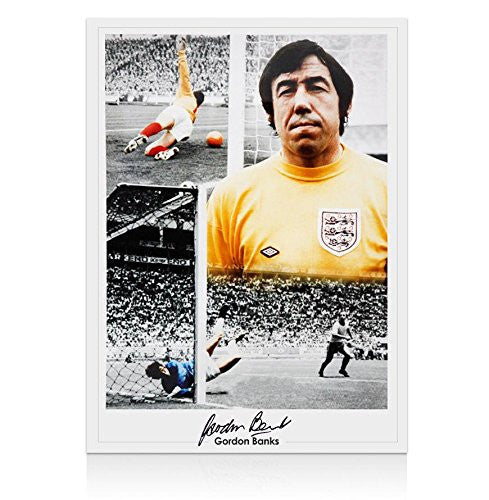 Gordon Banks Signed Photo - England Goalkeeping Legend Autograph - Autographed Soccer Photos