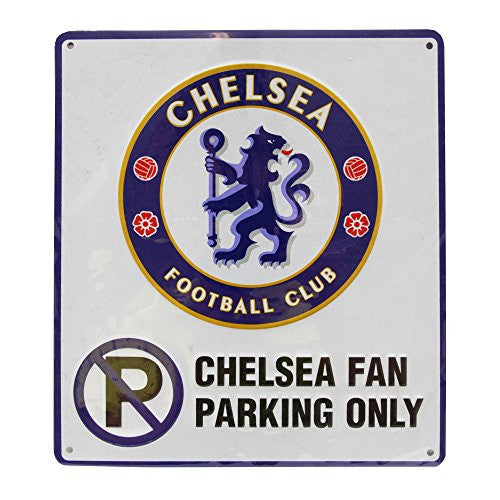 Chelsea FC No Parking Metal Sign