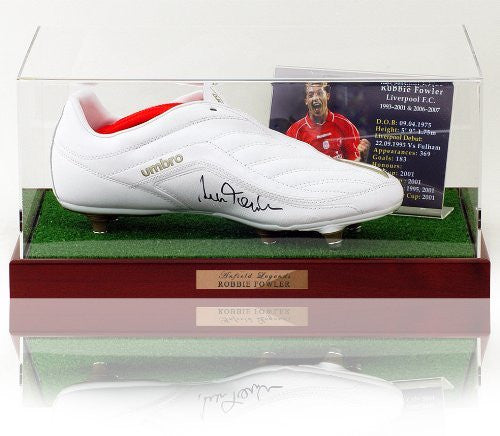 Robbie Fowler hand signed Football Boot Presentation