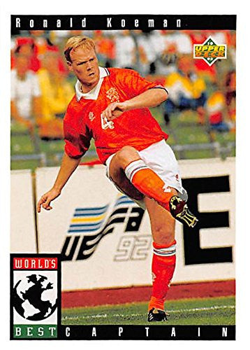 Ronald Koeman trading card 1993 Upper Deck World Cup #108
