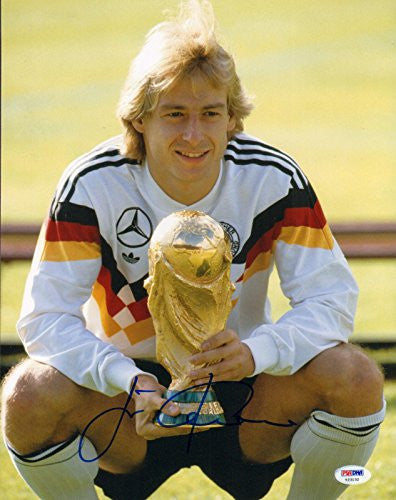 Jurgen Klinsmann Signed 11x14 Photo Germany World Cup - PSA/DNA Certified