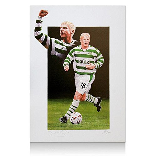 Celtic print hand signed by Neil Lennon
