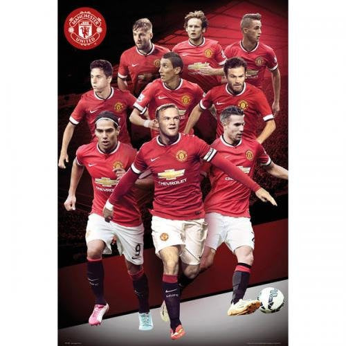 Manchester United 2014-2015 Art Print Poster
