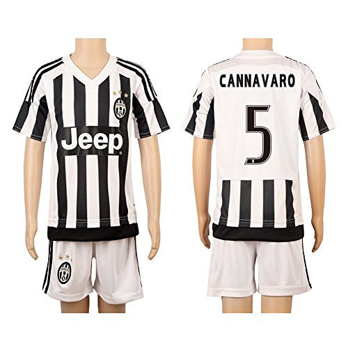 White & Black #5 Cannavaro Home Jersey (2015/16)