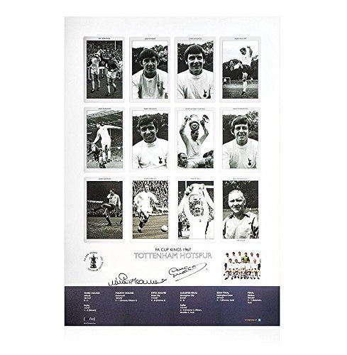 Jimmy Greaves And Dave Mackay Signed Print - Tottenham Hotspur FA Cup Kings 1967