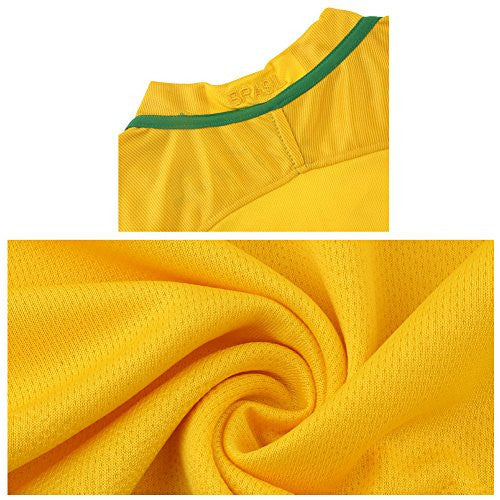 2016 Copa #11 Romario Yellow Home Kids Soccer Jersey & Short Kit Set