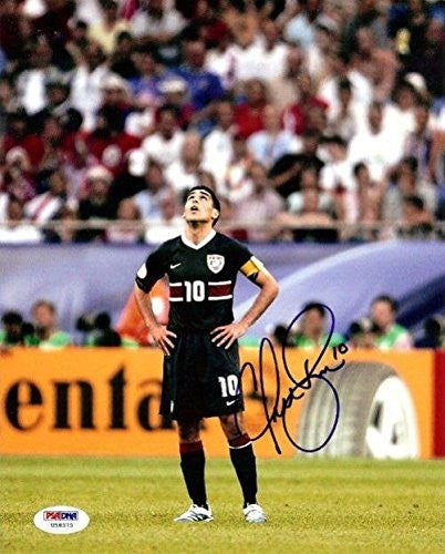 Claudio Reyna Signed Photo - Authentic 8x10 Team USA - PSA/DNA Certified - Autographed Soccer Photos
