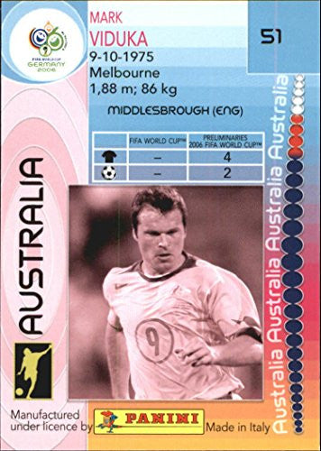 2006 Panini World Cup #51 Mark Viduka - NM-MT