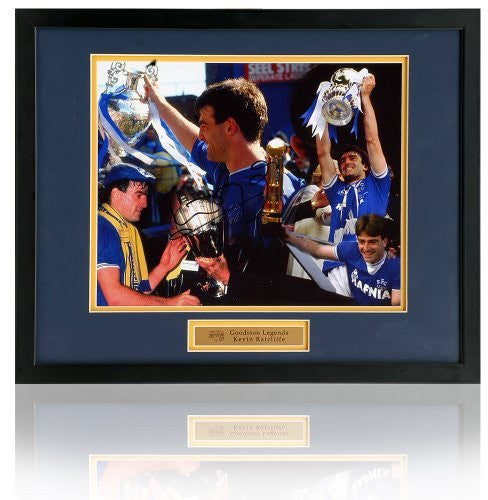 "Kevin Ratcliffe 10x8"" hand signed Trophies montage."