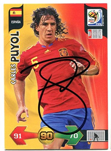 CARLES PUYOL SIGNED Panini 2010 World Cup Trading Card Auto. Genuine Autograph! COA