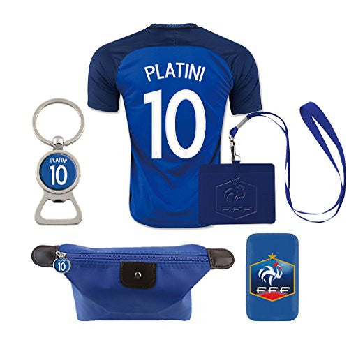 #10 Platini (6 in 1 Combo) France Away Jersey