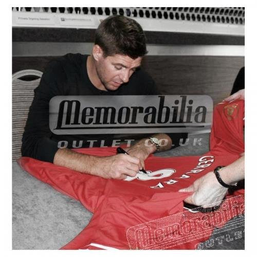 Signed Steven Gerrard Testimonial Ltd Edition 2014 Liverpool FC Shirt