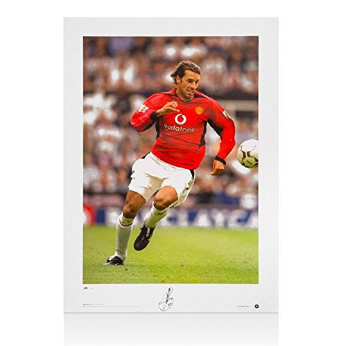 Ruud Van Nistelrooy Hand Signed Manchester United Photo - Autographed