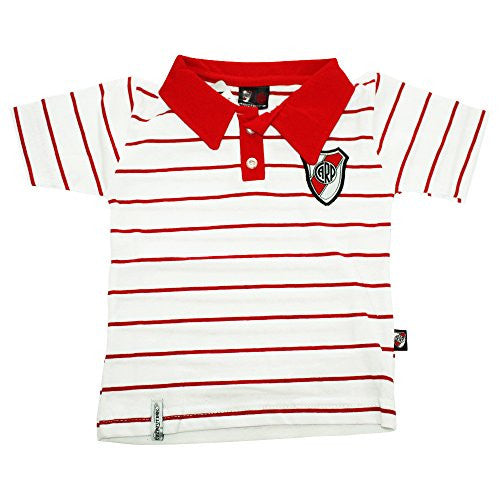 River Plate Futbol Football Soccer Baby Polo Shirt (6-12 Months)