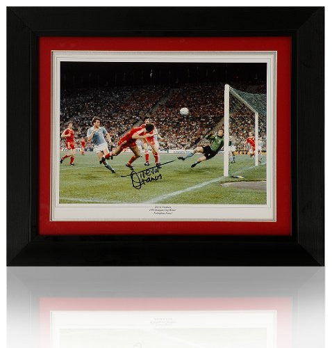 "Trevor Francis hand signed 16 x 12"" European Cup goal photograph (PP503)"