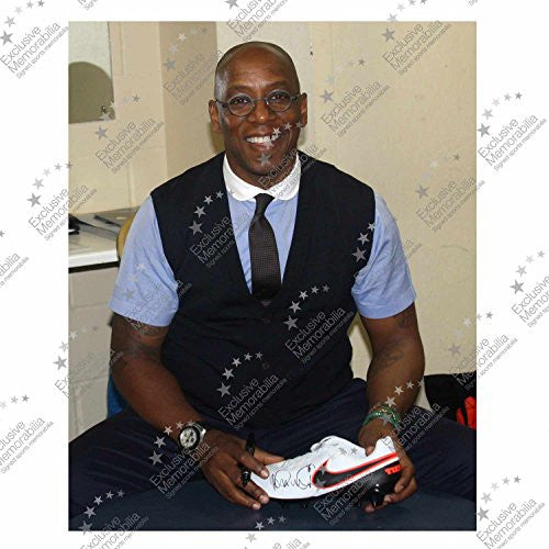 Ian Wright Signed Shoe In Display Case | Autographed Football Boot Cleat