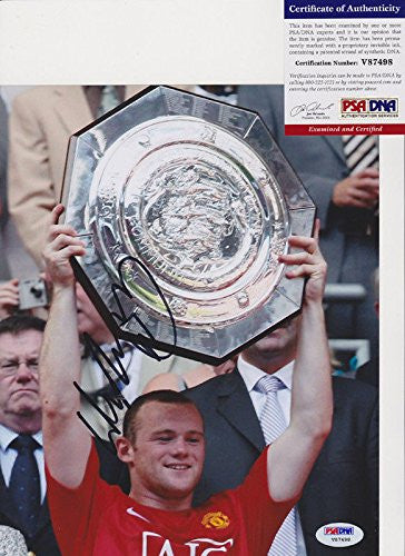 Wayne Rooney Signed Autograph 8x10 Photo PSA/DNA COA