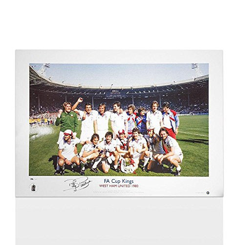 Autographed Billy Bonds Photograph - FA Cup King1980