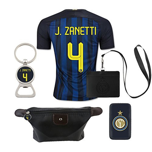 #4 J. Zanetti (6 in 1 Combo) Inter Milan Home Match Jersey 2016-17