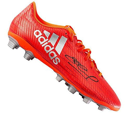 Steven Gerrard Signed Boot - Adidas X 16.4 Solar Red Autographed