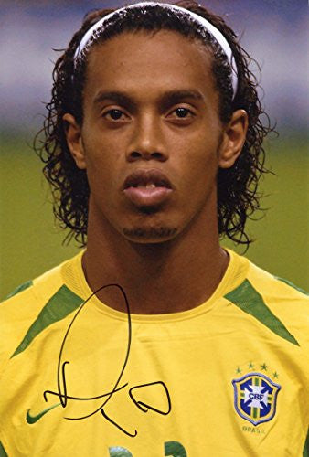 Ronaldinho BRAZIL autograph, In-Person signed photo