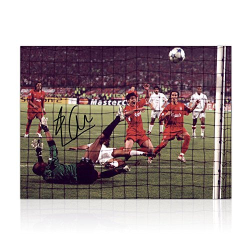 Miracle Of Istanbul Liverpool Photo Signed By Xabi Alonso