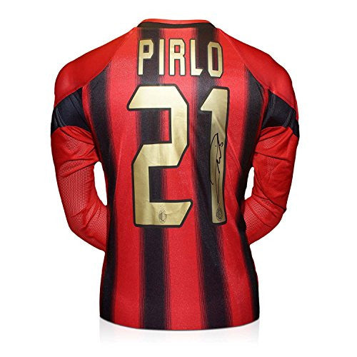 Andrea Pirlo Signed AC Milan Home Shirt 2004-05 (Long Sleeve)
